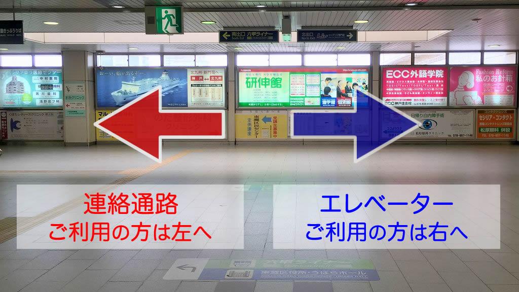 あんしん住吉への道案内JR住吉駅改札から